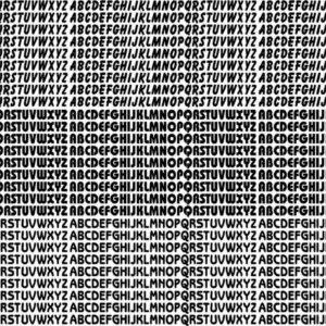 Adesivo p/ Bronzeamento – Cartela Alfabeto